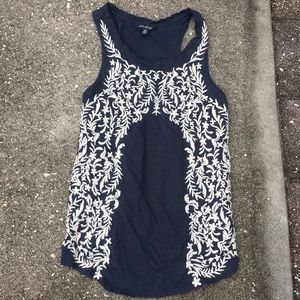 Lucky Brand embroidered racerback tank